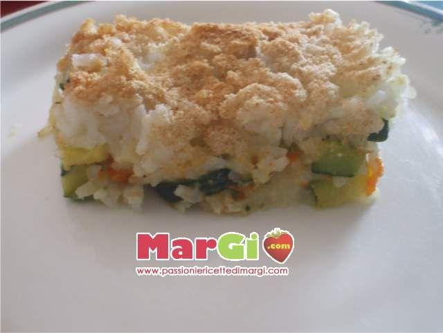 Sformato di riso con zucca primi leggeri con verdure