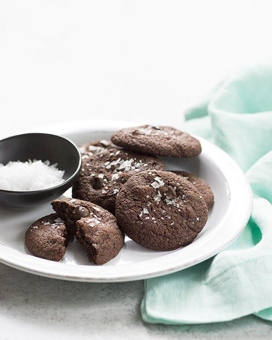 Gluten-Free and Vegan Salted Chocolate Cookies | A Dash of Compassion