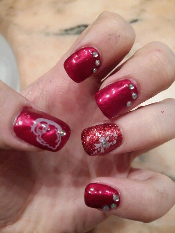 My Red Christmas nails~ 2015