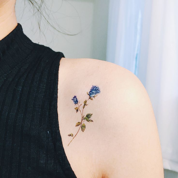 Temporary Tattoos Flower Set of 7, flower tattoos, rose,flower tattoo, pink, blue, red,yellow, handmade,floral temporary,body art,gift