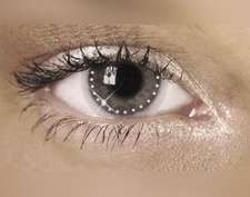 Swarovski Crystal Contact Lens Jewelry - How cool is that?