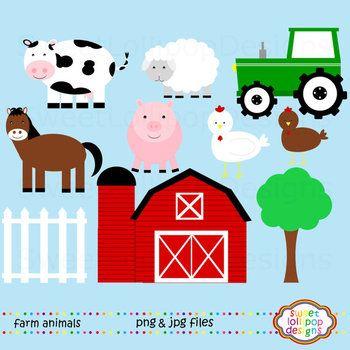 Farm Animals Clip Art Or Clipart Farm Clip Art Cow Pig Horse Sheep Tractor Farm Animals Birthday Party Farm Animal Party Farm Animal Birthday