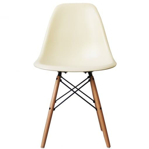 DSW 'Eiffel' Vanilla Dining Chair reflected by Charles Eames