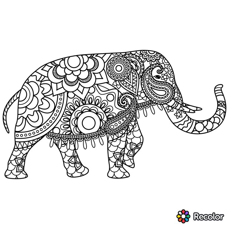The 135 best Coloring: Elephants images on Pinterest   Elephant ...