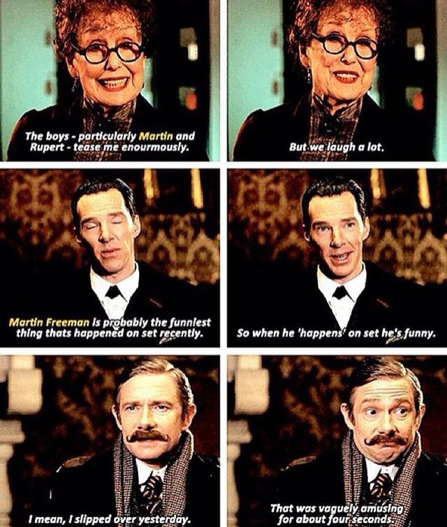 Sherlock cast about Martin Freeman x] (Series 4 Special ...