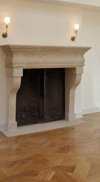 Antique stone or cast stone fireplace mantels - Google Search