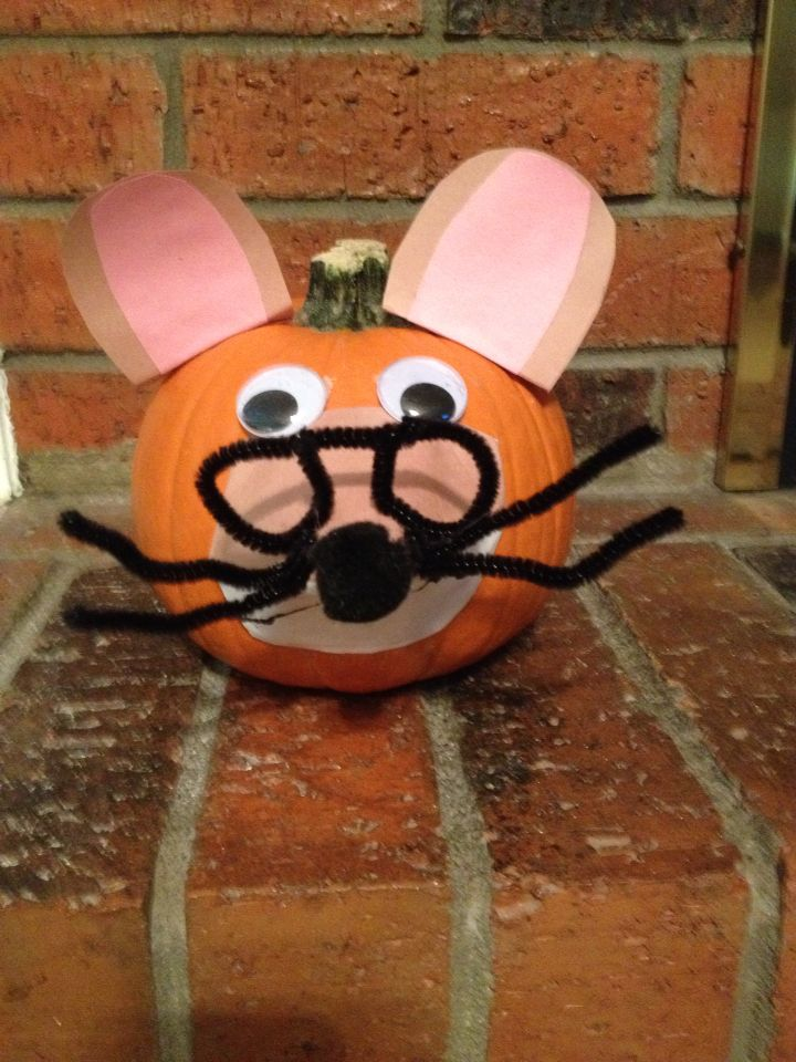 Geronimo Stilton Decorated Pumpkin For My Sons Book Report
