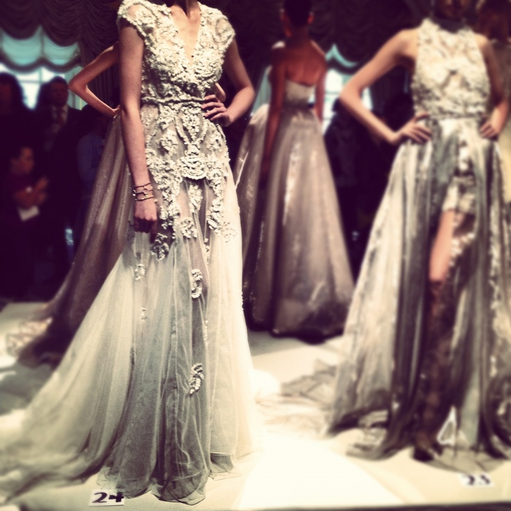 Hearing wedding bells over this Dennis Basso gown!