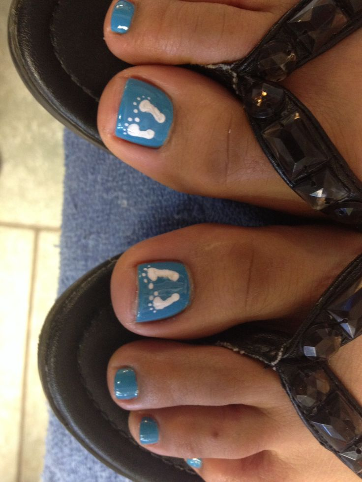Baby boy nails courtesy of Tiffany at Alpha Nails, Austin, TX