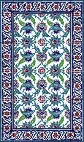 Ottoman tile mural