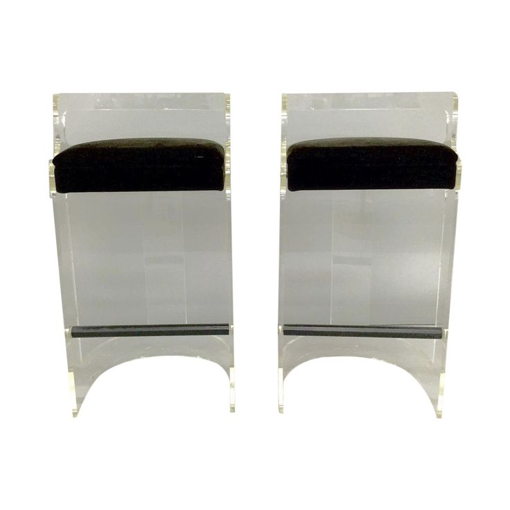 Charles Hollis Jones Bar Stools - A Pair on Chairish.com