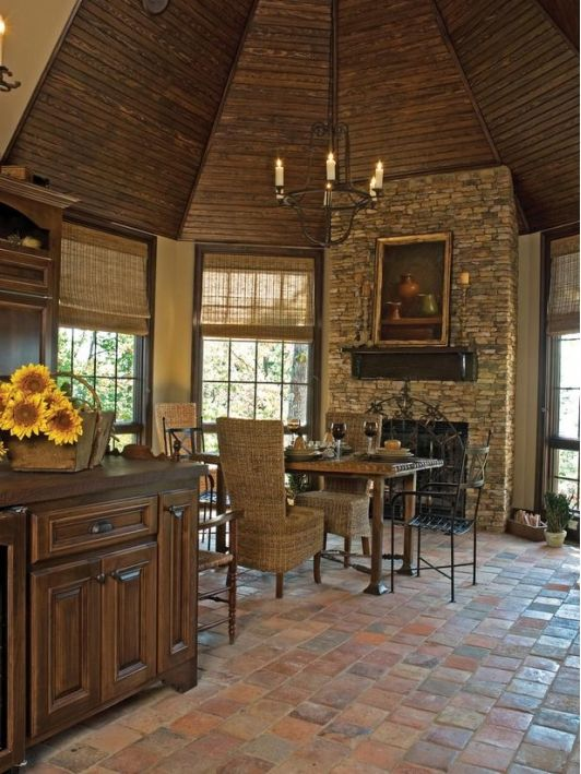 terra cotta tile kitchen floor home and garden design ideas - Home Tile Design Ideas