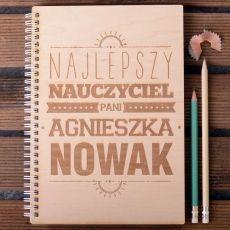 Drewniany notatnik personalizowany B5 NAJLEPSZY idealny na urodziny