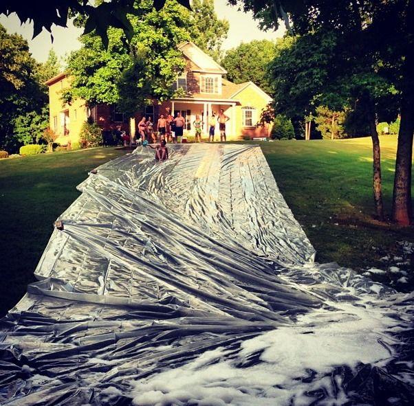 Summer slip and slide!