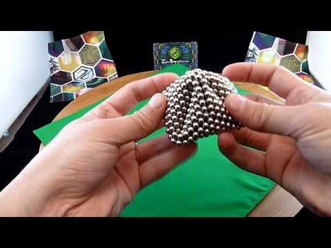 Zen Magnets: Dork Ball Tutorial (Rhombic Dodecahedron) - YouTube