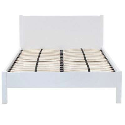 white gloss maxi double bed frame king size - Dimensions Of A King Size Bed Frame