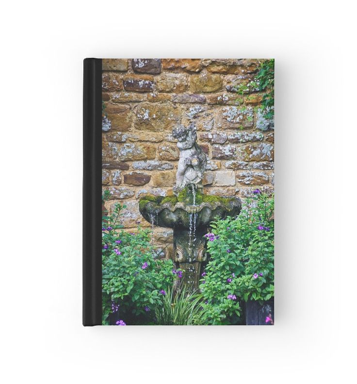 Garden Fountain hardcover journals and notebooks by Vicki Field