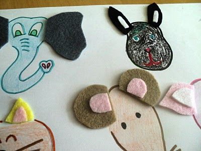 match the ears on the animals. Good idea!