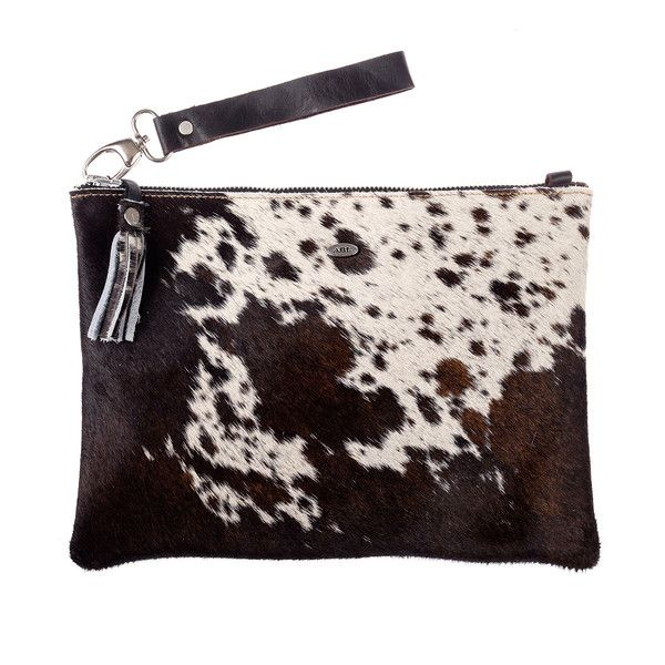 Shluci Pouch - Brown and White