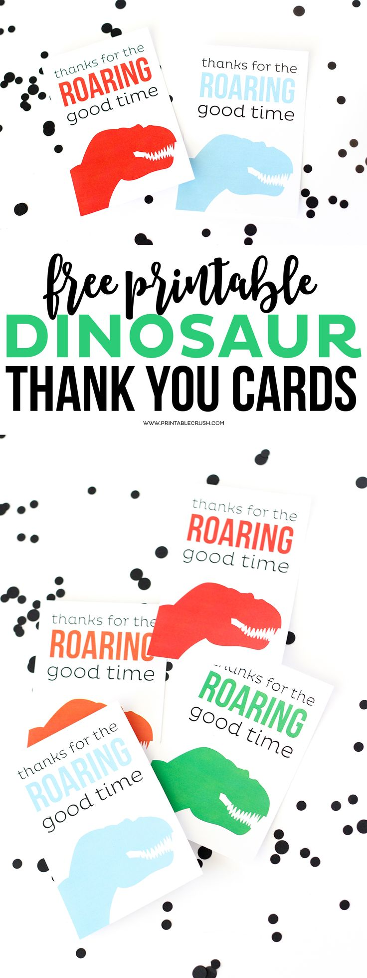 Download These Cute And Free Printable Dinosaur Thank You