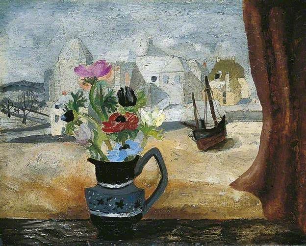 Anemones in a Cornish Window (1930) by Christopger Wood, Leeds Art Gallery