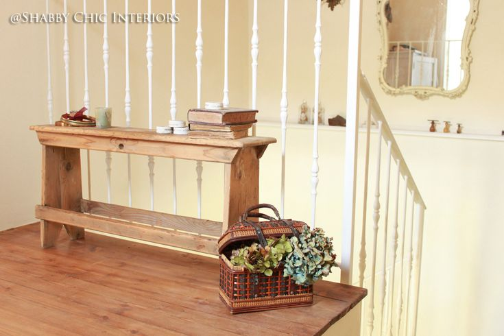 La panca (Shabby Chic Interiors: Trasformare un angolo di casa)