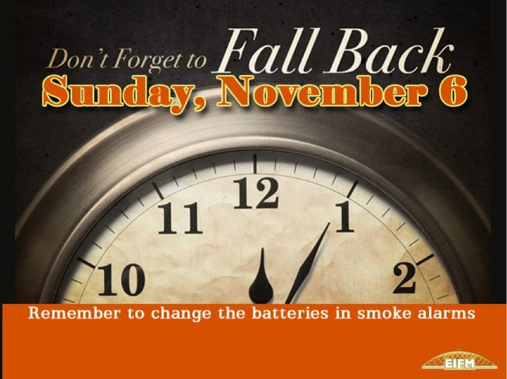 Remember this Sunday, Novmember 6 is the ending of Daylight Saving Time. It's time to FALL BACK by moving your clocks back one hour before going to bed Saturday night. You'll gain an hour of sleep. This is also a good time to replace the batteries in your smoke detectors. Please share this with your co-workers, family and friends. #fallback #daylightsavings #batteries #smokedetectors #pst #psd #pacificstandardtime #pacificdaylighttime