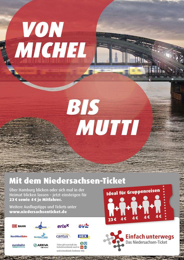 Kampagne für das Niedersachsenticket
