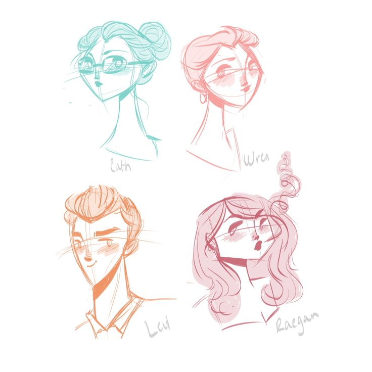 Fairy Kisses • Quick Fangirl doodles, as practice with digital...