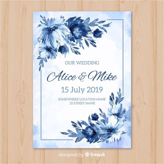 Download Watercolor Wedding Invitation Template For Free In 2020