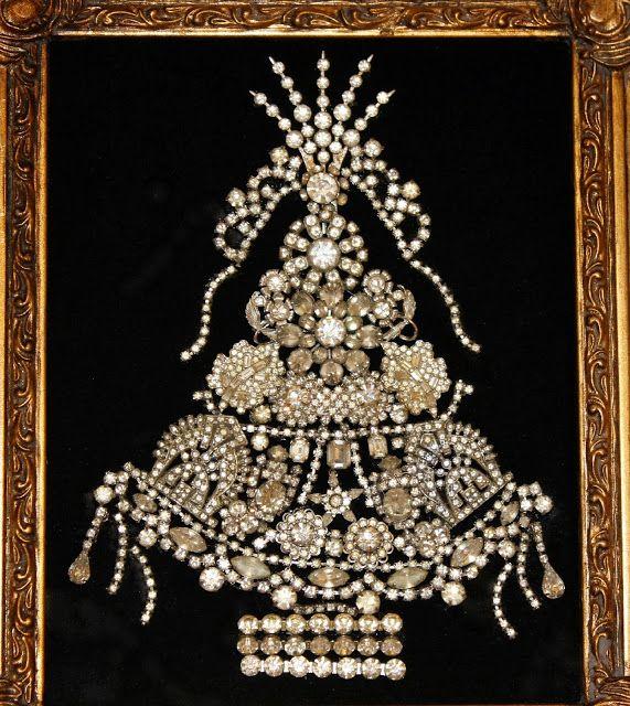 Vintage Jewelry Christmas Tree- Christmas Craft