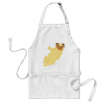 Playful Pug Adult Apron - dog puppy dogs doggy pup hound love pet best friend