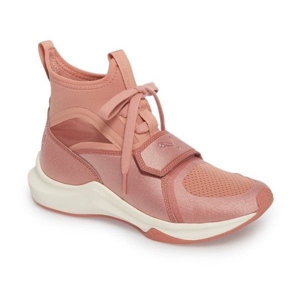 Women's Puma Phenom High Top Training Shoe (1.169.580 IDR) ❤ liked on Polyvore featuring shoes, athletic shoes, taffy, high top athletic shoes, training shoes, lightweight shoes, lace up shoes and breathable shoes