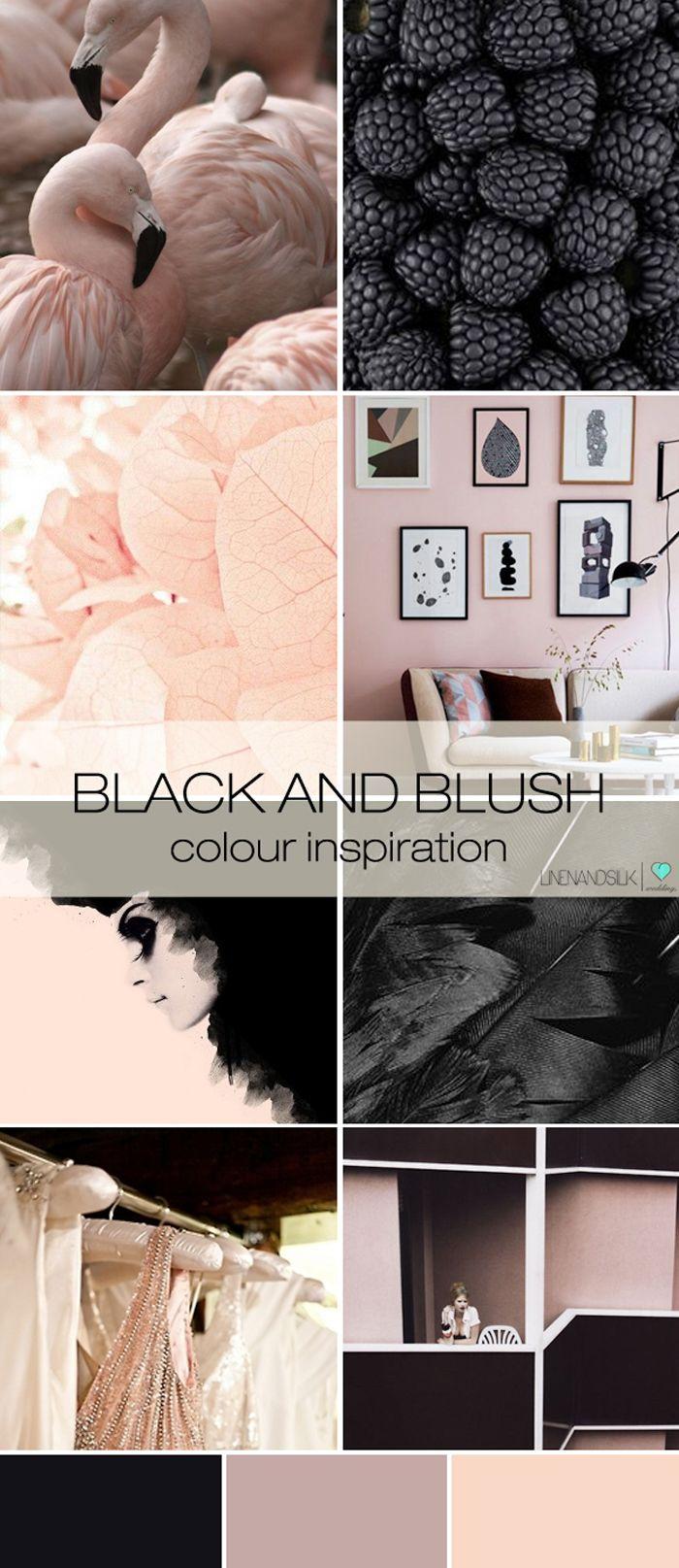 Linen and Silk Weddings inspiration | black and blush