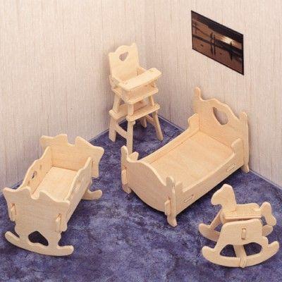 Drevené 3D puzzle Nábytok detská izba