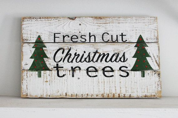 Fresh Cut Christmas Trees Reclaimed Wood by thesummeryumbrella