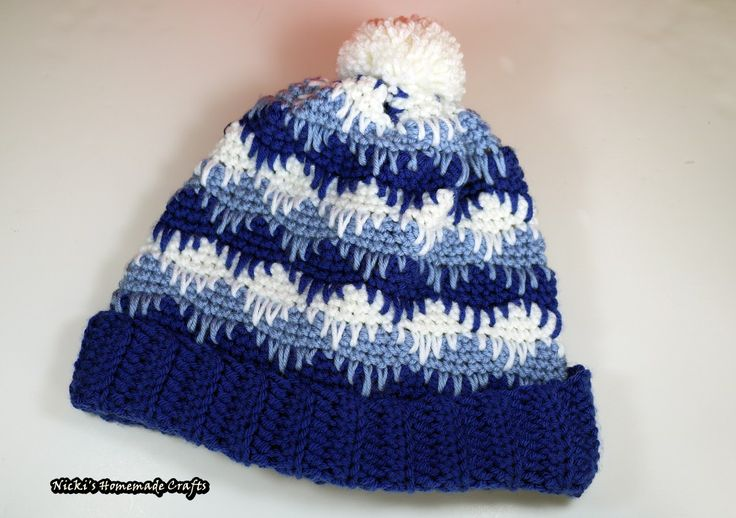 Crochet Peek-A-Boo Hat Pattern with photo and video tutorial for Winter