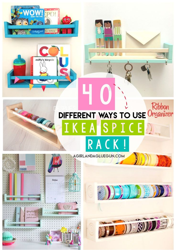 Yesterday I showed you my daughter's fun makeup/get ready station see it here! and as I snooped around…I realized that are so many fun ways to organize with these awesome Ikea Bekvam Spice Racks And so I rounded up tons of fun ideas on how to use them! Which one is your favorite?? Perfect size …