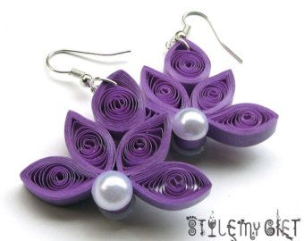 Lotus- Paper Quilled Earrings