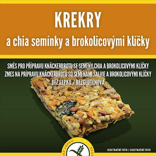 Krekry s chia semínky a brokolicovými klíčky