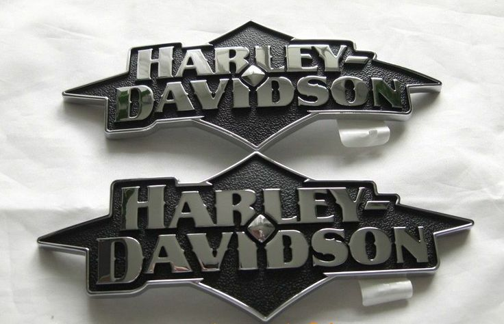 New oem harley chrome fuel tank emblems medallion badge