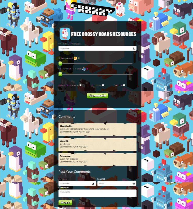While searching for all these video game cheats the only thing to be careful of is that you've got the right game system. Different codes are setup for unique systems on the basis of the device setup -- crossy road hack --- http://www.crossyroadhacknosurvey.com/