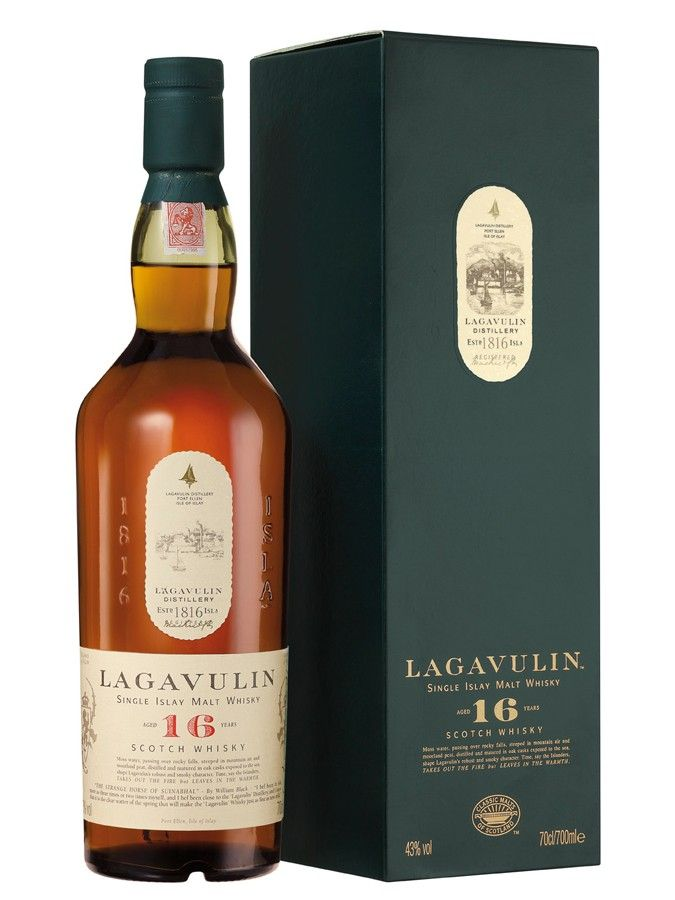 Lagavulin 16 ans, excellent (sinon le meilleur) whisky tourbé, single malt