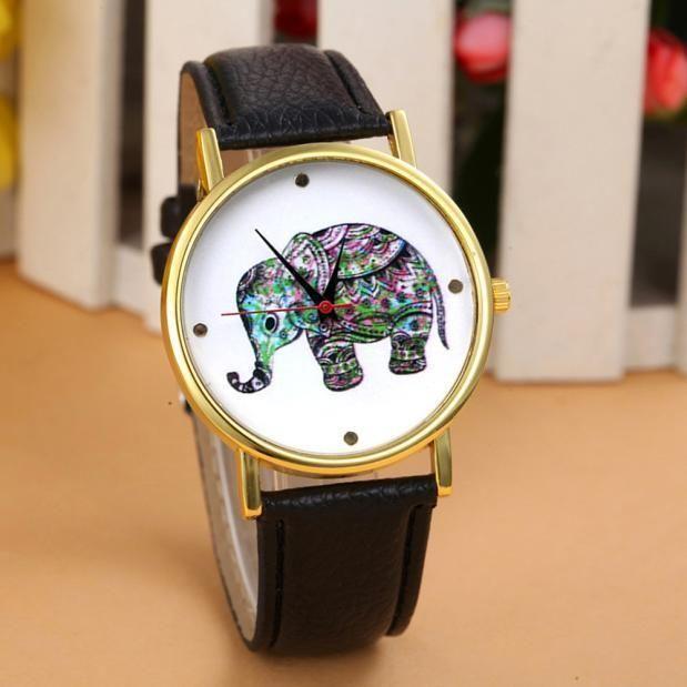 Hot Geneva Watches Unisex Elephant Leather Band Analog Quartz Wristwatches Часы #pendoshopWholesale #Fashion
