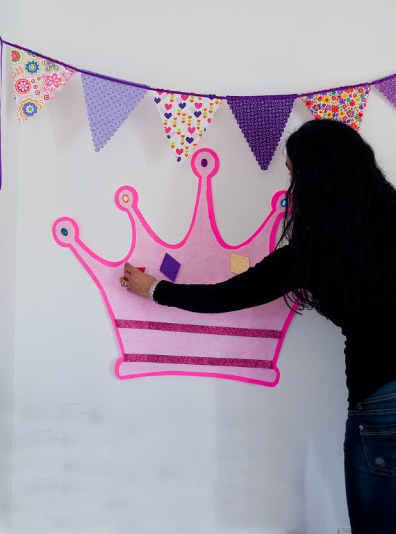 Pin The Jewel On The Crown Princess Party Game by SwankyPartyBox