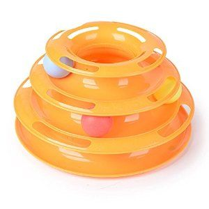 The New Three Layers Pet Toys Intelligence Crazy Play Tray Cat Play: Amazon.co.uk: Pet Supplies