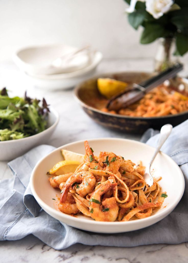 Spicy Chilli Prawn Pasta (Shrimp) - A super quick 15 minute meal with a secret ingredient that makes all the difference! www.recipetineats.com