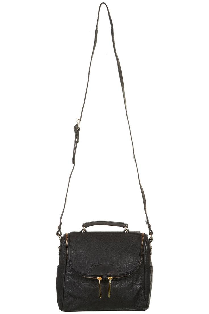 Leather Zip Front Satchel