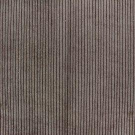 Tissu velours à grosses côtes entoilé Pana marron glacé x 10 cm