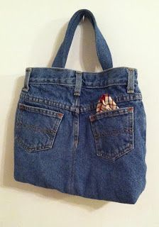 Upcycle: Child's Lined Tote-Bag from a Pair of Jeans